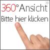 360° Detailansicht Druckguss Einbaustrahler Weiß eckig mit Klickverschluss